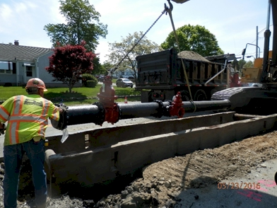 Installing new pipe